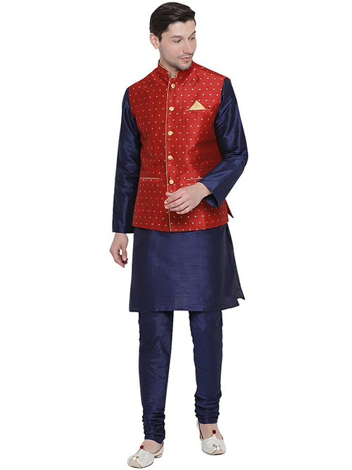 DESIGNER INDIAN KURTA PAJAMA JACKET-600039-S