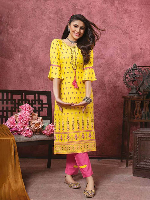 DESIGNER INDIAN KURTI - BT-K-R-90112-M