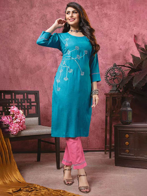 DESIGNER INDIAN KURTI - BT-K-R-90113-M