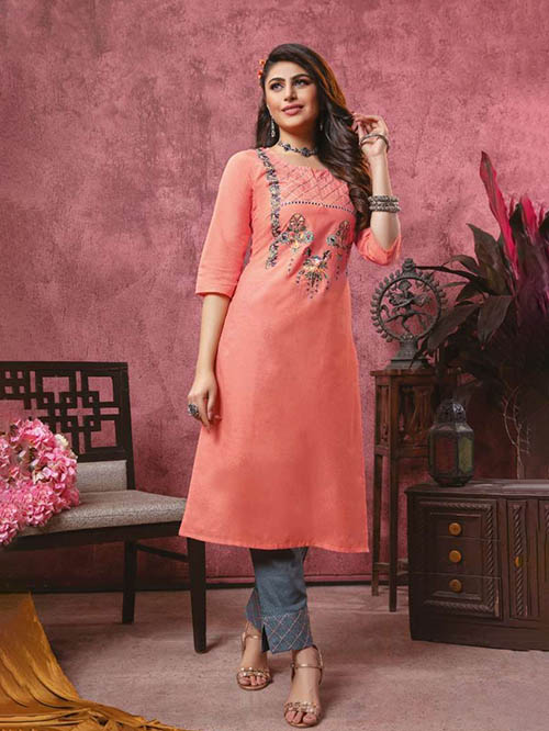 DESIGNER INDIAN KURTI - BT-K-R-90115-M