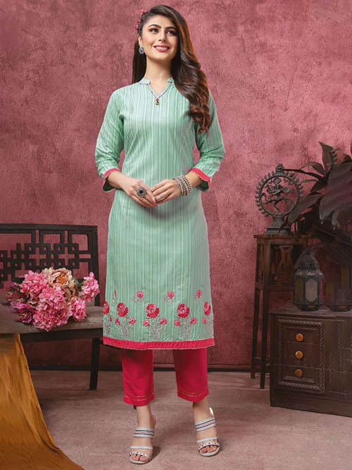 DESIGNER INDIAN KURTI - BT-K-R-90117-M