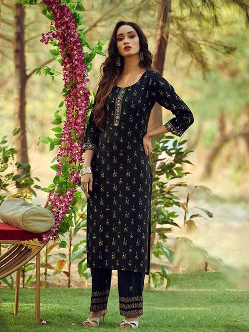 DESIGNER INDIAN KURTI - BT-K-R-90124-XL