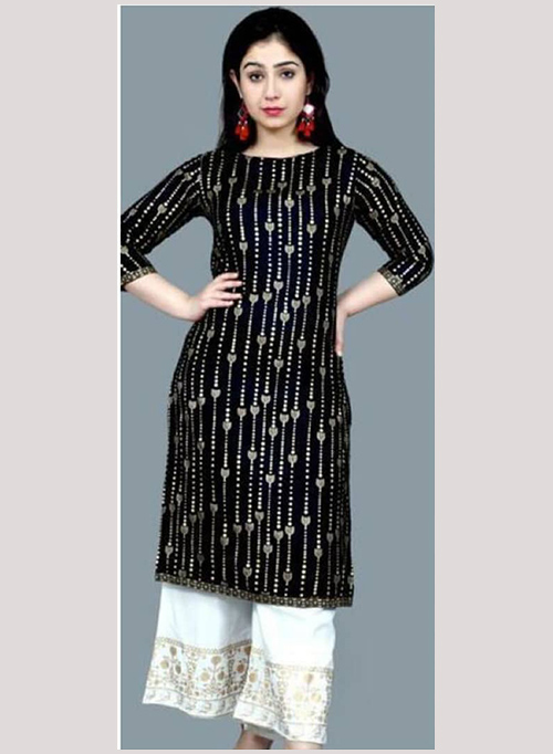 DESIGNER INDIAN KURTI - BT-K-R-90125-B-L