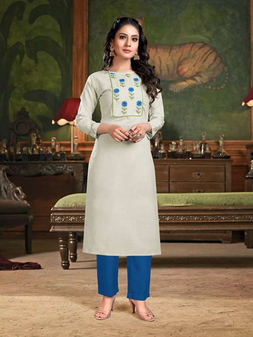 DESIGNER INDIAN KURTI - BT-K-R-90133-4XL