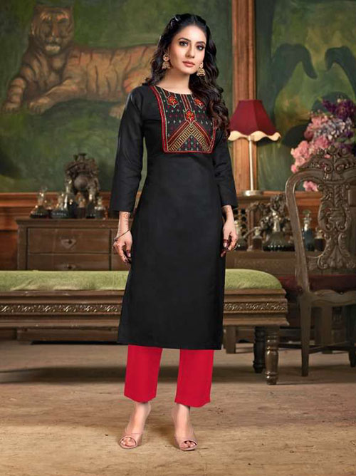 DESIGNER INDIAN KURTI - BT-K-R-90134-4XL