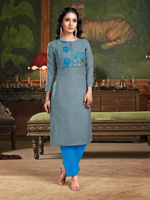 DESIGNER INDIAN KURTI - BT-K-R-90135-4XL
