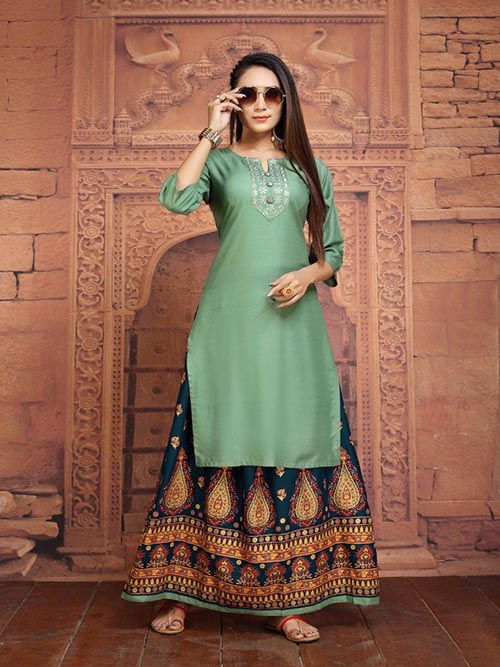 DESIGNER INDIAN KURTI - BT-K-R-90150-L