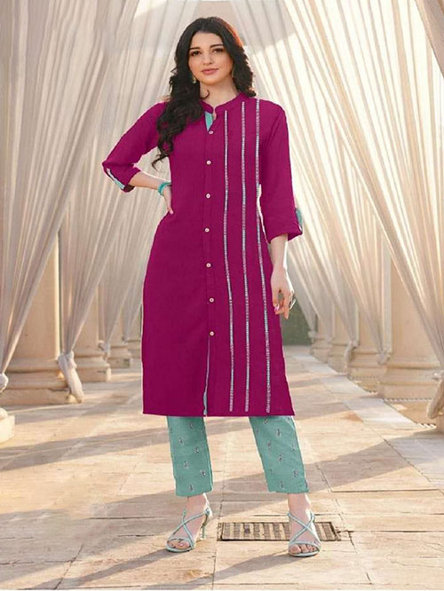 DESIGNER INDIAN KURTI - BT-K-R-90155-S