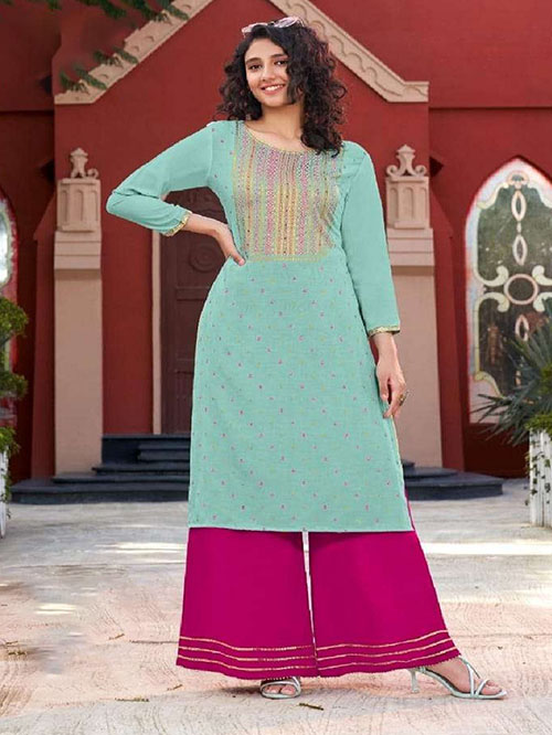 DESIGNER INDIAN KURTI - BT-K-R-90157-S