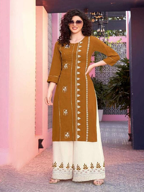 DESIGNER INDIAN KURTI - BT-K-R-90161-S