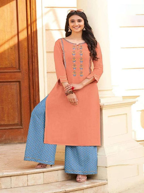 DESIGNER INDIAN KURTI - BT-K-R-90162-S