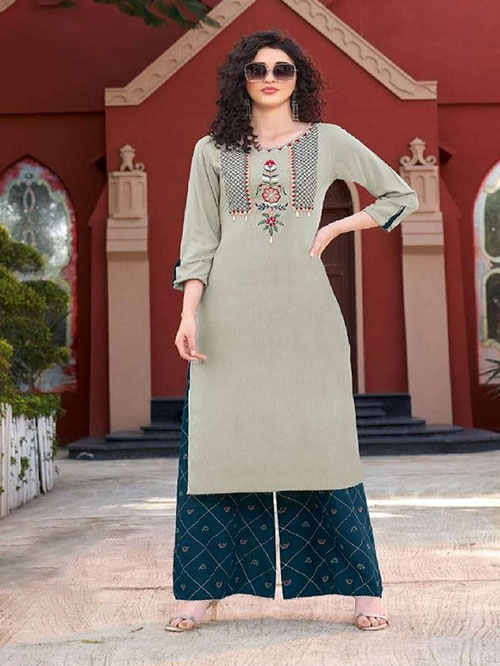 DESIGNER INDIAN KURTI - BT-K-R-90163-S