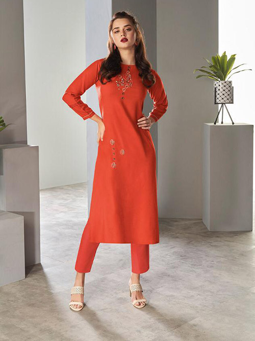 DESIGNER INDIAN KURTI - BT-K-R-90171-S