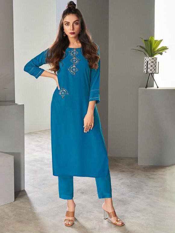 DESIGNER INDIAN KURTI - BT-K-R-90172-S