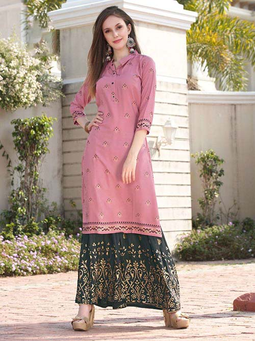 DESIGNER INDIAN KURTI - BT-K-R-90188-L
