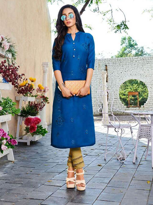 DESIGNER INDIAN KURTI - BT-K-R-90211-3XL