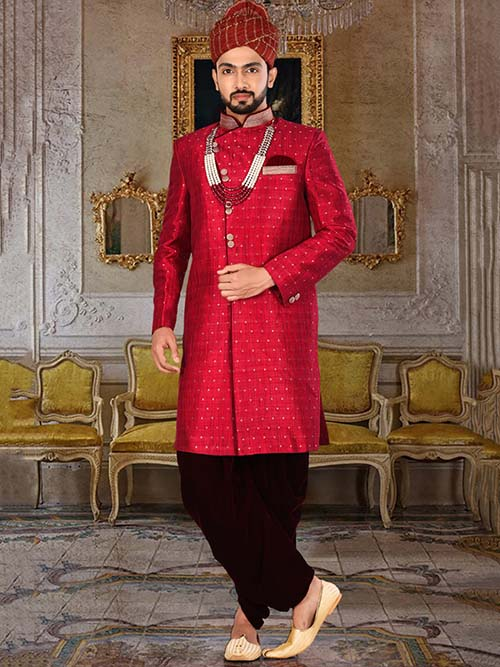 DESIGNER INDIAN SHERWANI-600023-XXL
