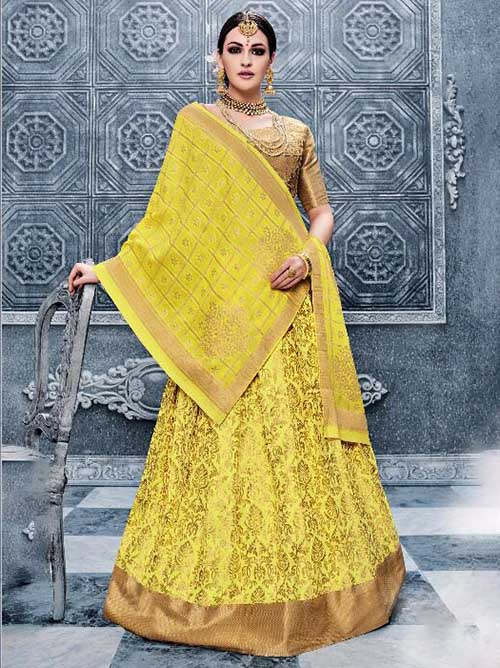 BEAUTIFUL INDIAN LEHENGA CHOLI - BT-LH-R-10174