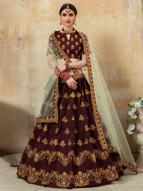 BEAUTIFUL INDIAN LEHENGA CHOLI - BT-LH-R-10185-XL