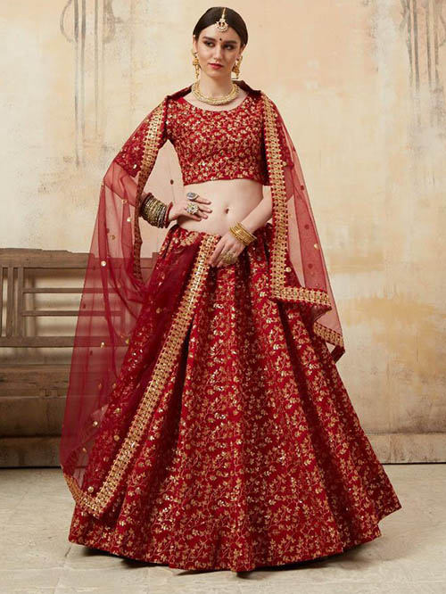 BEAUTIFUL INDIAN LEHENGA CHOLI - BT-LH-R-10186-XL