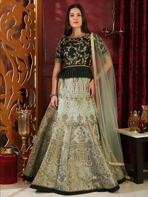 BEAUTIFUL INDIAN LEHENGA CHOLI - BT-LH-R-10207-XXL