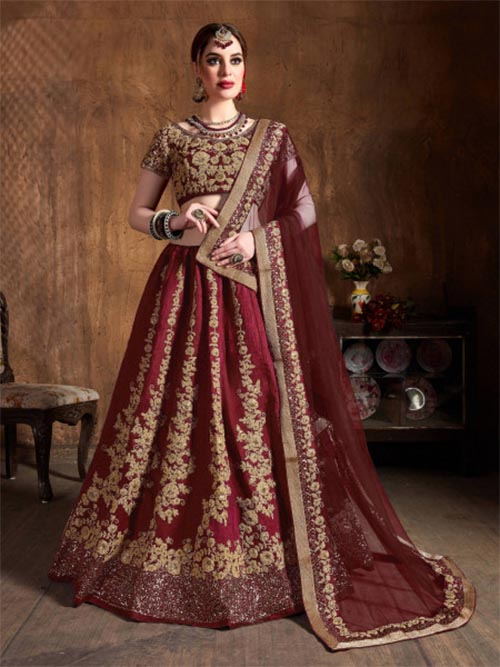 BEAUTIFUL INDIAN LEHENGA CHOLI - BT-LH-R-10232-XXL