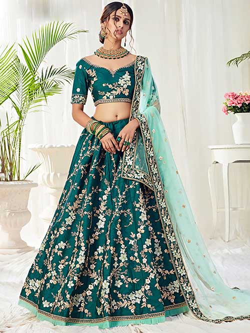 BEAUTIFUL INDIAN LEHENGA CHOLI - BT-LH-R-10321-XL