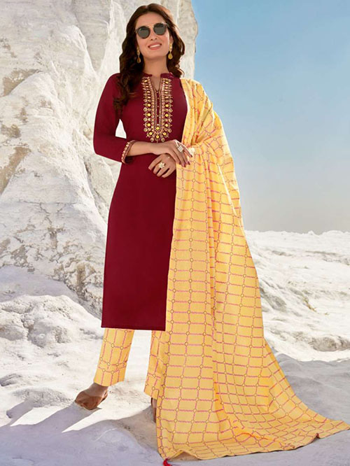 DESIGNER INDIAN SALWAR KAMEEZ - BT-SK-R-30817-4XL