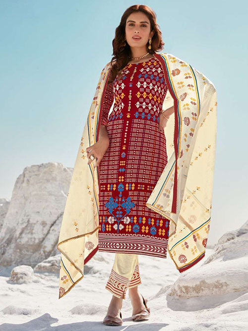 DESIGNER INDIAN SALWAR KAMEEZ - BT-SK-R-30819-4XL