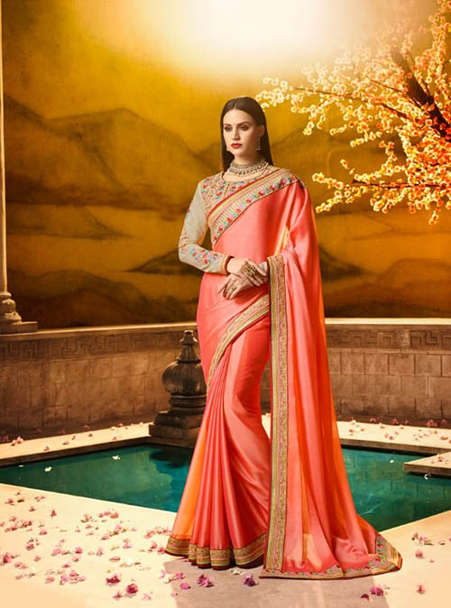 PARTY WEAR INDIAN SILK SAREE - BT-SR-40070