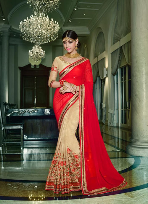 PARTY WEAR INDIAN SILK SAREE - BT-SR-40119