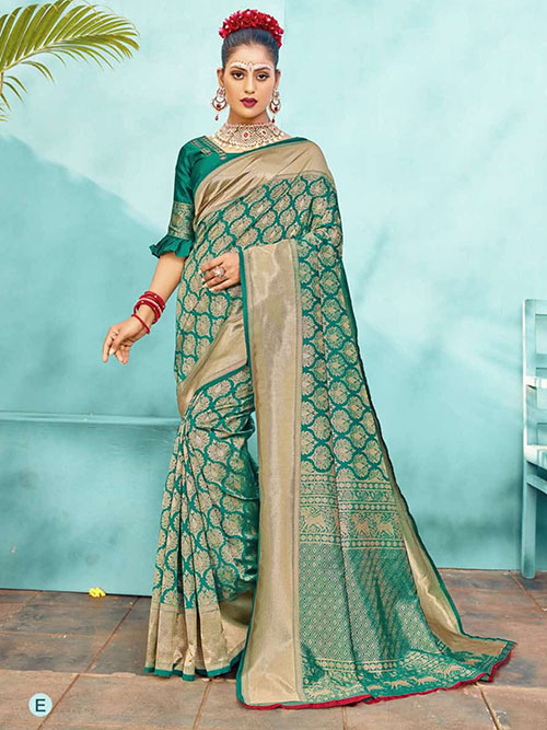 PARTY WEAR INDIAN SILK SAREE - BT-SR-40564-E