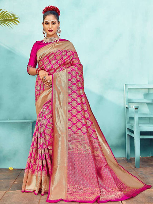 PARTY WEAR INDIAN SILK SAREE - BT-SR-40564-F