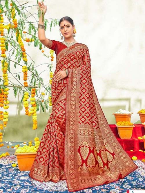PARTY WEAR INDIAN SILK SAREE - BT-SR-40565-A