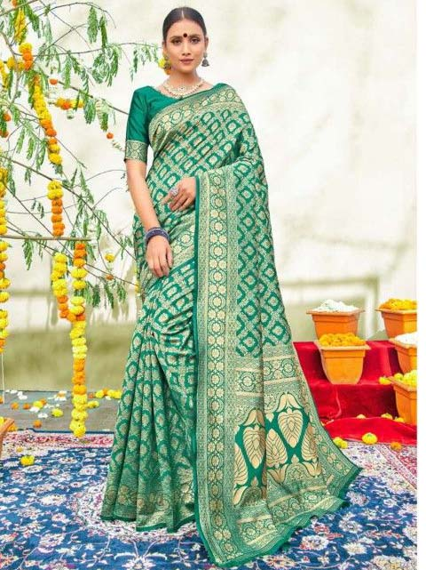 PARTY WEAR INDIAN SILK SAREE - BT-SR-40565-B
