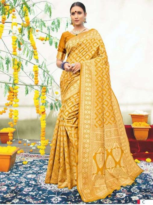 PARTY WEAR INDIAN SILK SAREE - BT-SR-40565-C
