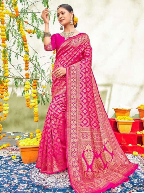 PARTY WEAR INDIAN SILK SAREE - BT-SR-40565-E