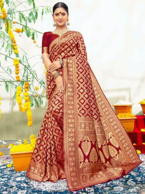 PARTY WEAR INDIAN SILK SAREE - BT-SR-40565-F